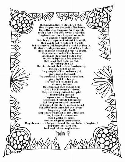 Psalm Coloring Printable Adult Scripture Psalms Journaling