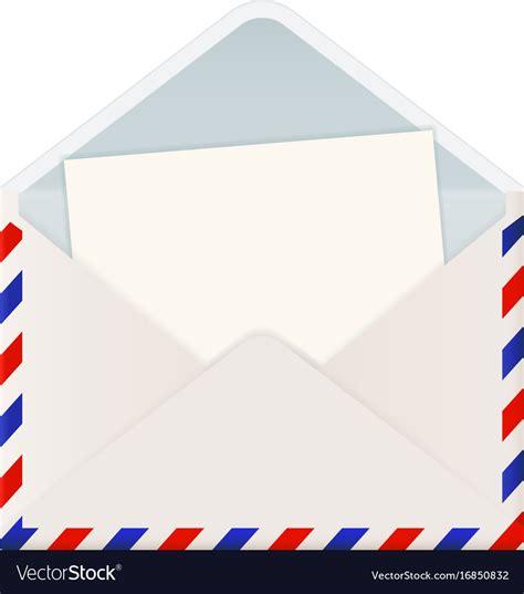 open international mail envelope  letter vector image