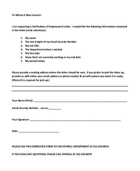 employee verification letter 8 verification of employment letter sles sle