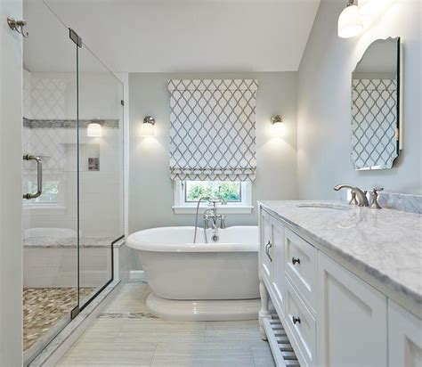 mosaic bathroom floor tile ideas gray dual vanity with marble countertop transitional kitchen