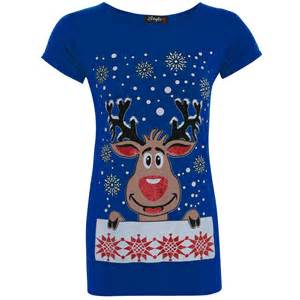 womens ladies christmas xmas santa snowman reindeer batman penguin t shirt tops ebay