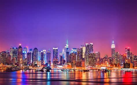 new york city lights wallpics4k free wallpaper