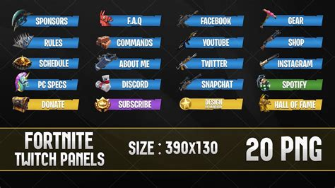 Twitch Panel Template Twitch Layout Template New Fortnite Twitch Panels 2 By
