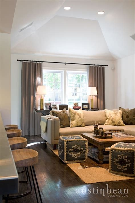Living Room Poufs by Kilim Pouf Transitional Living Room Bean