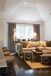 Kilim pouf transitional living room austin bean for Living room poufs