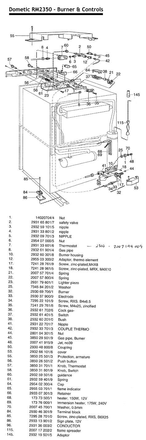 caravansplus spare parts diagram dometic rm2350 upright fridge controls biege trim