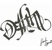 Life And Death Ambigram  Sylvie Guillems