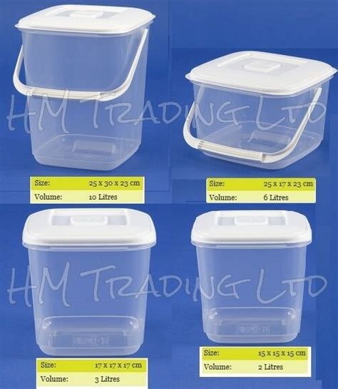 clear plastic kitchen canisters clear plastic food storage canister container tub freezer