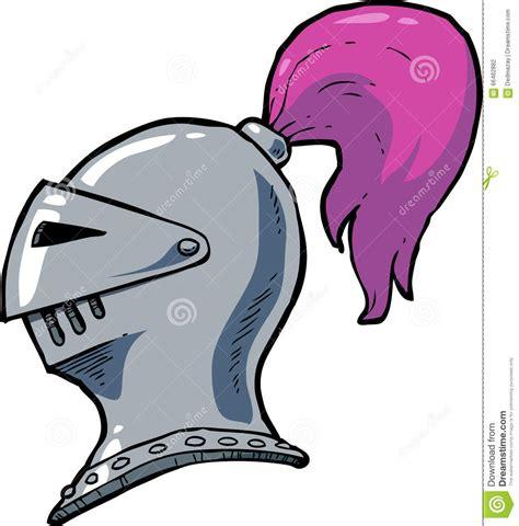 cartoon knight helmet stock vector image