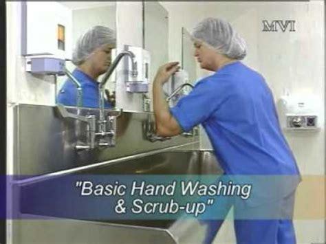 washing scrubs basic hand washing scrub up youtube