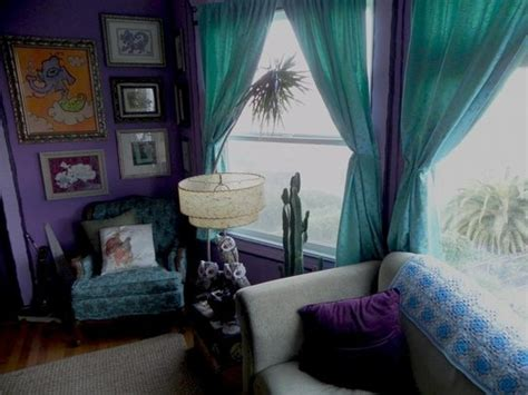 view  grey couch teal curtains   home