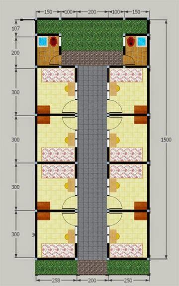 contoh gambar desain kamar kost sederhana  mahasiswa