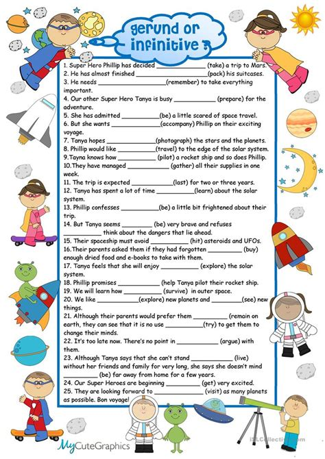 Good Infinitives Worksheet Goodsnyccom