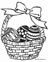 Easter Coloring Baskets Pages Basket sketch template