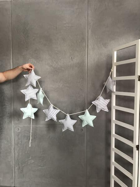 Dekoration Kinderzimmer Mint by Girlande Sterne Mint Grau Babyzimmer Kinderzimmer