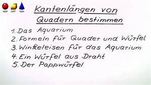 Oberfläche Eines Quaders Berechnen : volumen und oberfl che von quadern und w rfeln mathematik online lernen ~ Themetempest.com Abrechnung