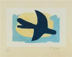 Oiseau Jaune Et Bleu : oiseau bleu et jaune by georges braque on artnet ~ Melissatoandfro.com Idées de Décoration