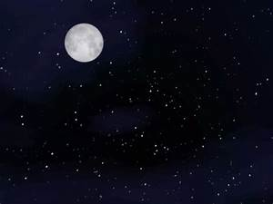 Moon and Stars Desktop Wallpaper - WallpaperSafari