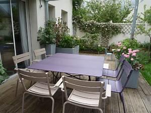 Petite Table Terrasse. ensemble de jardin blanc pas cher 4 places 1 ...