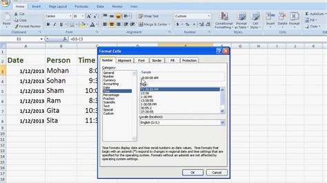 how to calculate hours worked in excel 2007 youtube