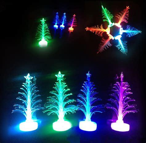 jual lampu led pohon natal rumbai fiber optic  warna