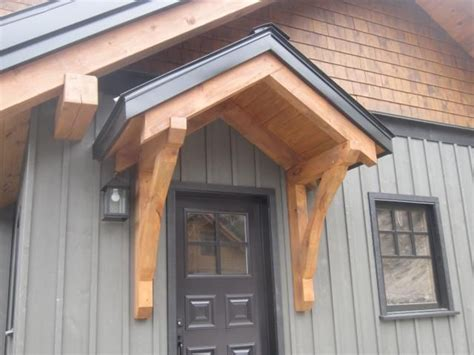 Jackson Hill Timber Frames Accents, Backdoor Entrance