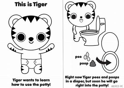 Potty Training Tiger Behance Learns