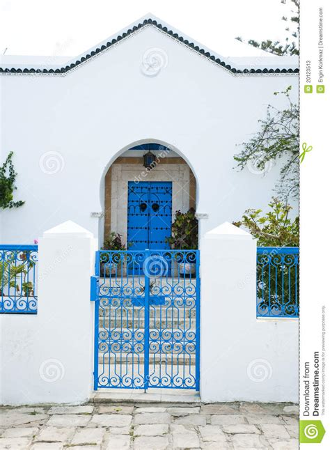 tunisian house stock  image