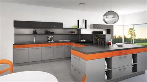 cuisine orange et noir cuisine noir et orange