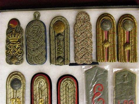 german imperial shoulder boards id germany imperial