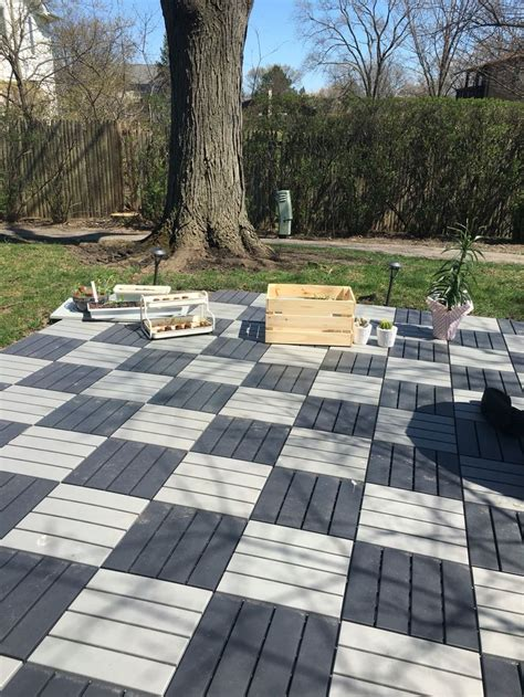 love ikea outdoor tiles easy  install  totally