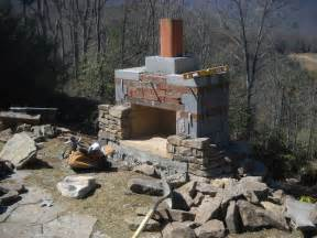 Building Stone Fireplace by How To Build An Outdoor Stacked Stone Fireplace How To