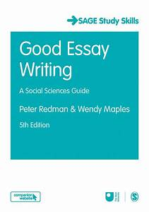 Good Essay Writing   A Social Sciences Guide By Maples