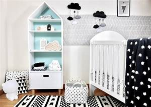 Décoration Chambre De Bébé : d co chambre b b en noir et blanc blog deco clem atc ~ Teatrodelosmanantiales.com Idées de Décoration