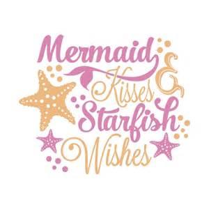 wedding wishes nautical mermaid kisses cuttable design