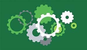 Mechanic Template Background Template With Gears On Green Download Free