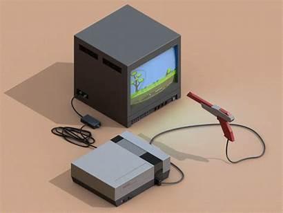 Nes Nintendo Entertainment System Dribbble Isometric Mac