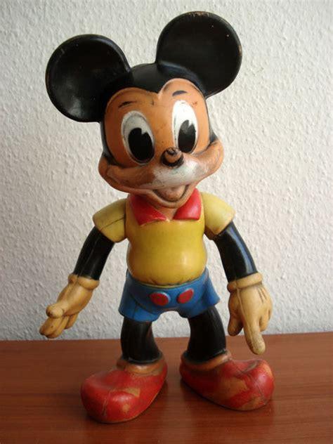 micky maus deko 34 cm alte grosse mickey mouse hartgummi figur micky maus walt disney deko ebay