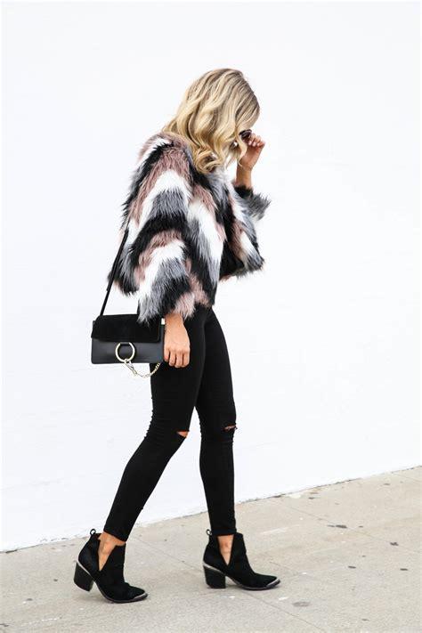 Chevron Faux Fur Jacket | Blonde Collective | a lifestyle blog by Ashley Guyatt