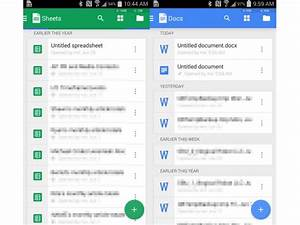 Google docs and sheets apps for android get new design and for Google docs sheets app