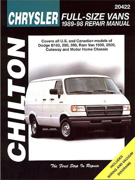 ford econoline van repair manual by chilton 1989 1996 dodge full size van repair manual by chilton 1989 1998