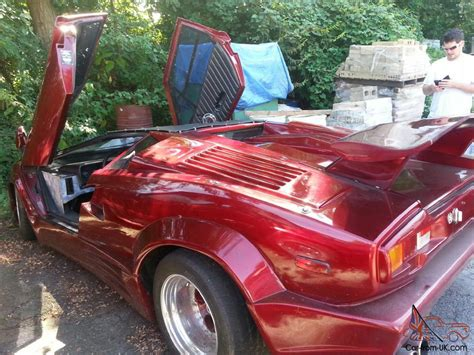 lamborghini engine in car 1989 red lamborghini countach kit car great engine runs well