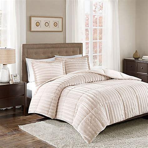 14274 fur bed set park duke faux fur 3 comforter set bed