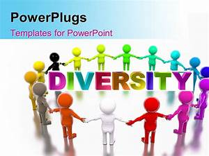 powerpoint template a number of various colored figures With diversity powerpoint templates free