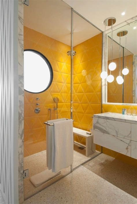 Badezimmer Fliesen Gelb bathroom tiles yellow folat