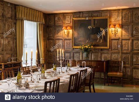 Original Jacobean Wall Panels In Dining Room With Gilt