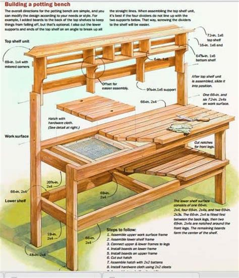 how to build a potting bench beautiful garden potting bench plans ideas family food