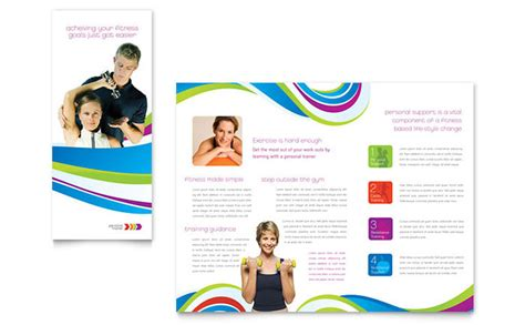 Course Brochure Template by Personal Trainer Brochure Template Design