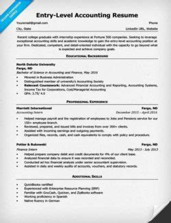 accounting cpa resume sle resume companion