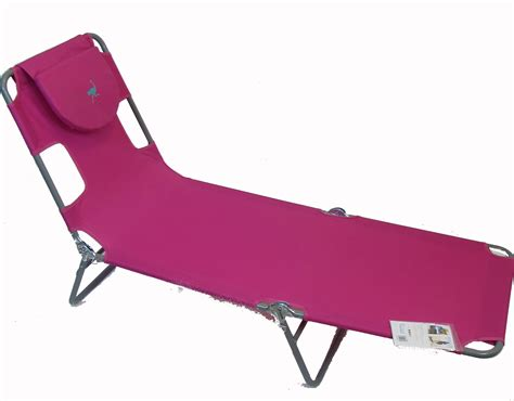 Ostrich Chair Pink by The Ostrich Folding Chaise Lounge Chair